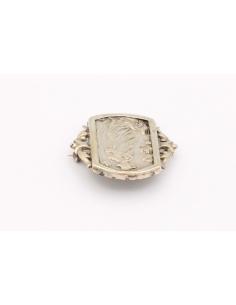 Broche Art Nouveau en argent 800-The Vintage Workshop